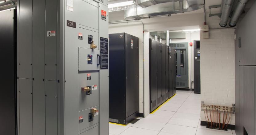 Tufts University Data Center Electrical Room