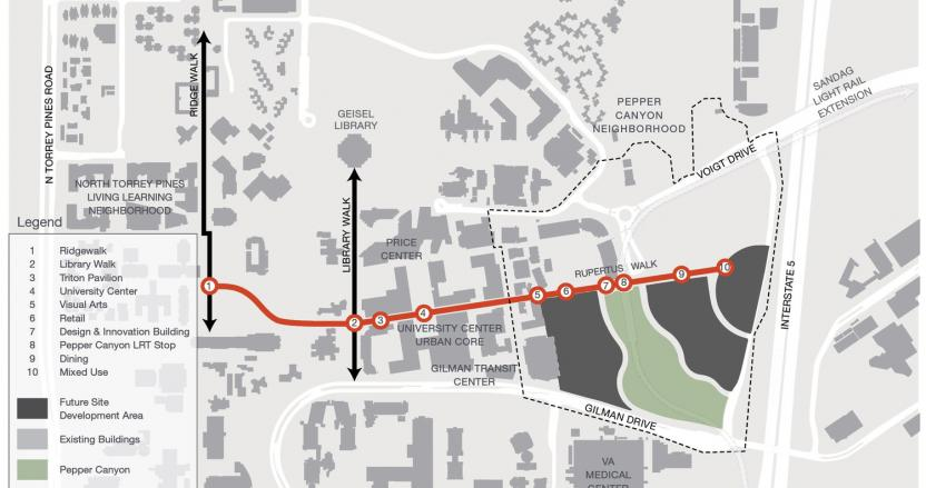 UCSD Pepper Canyon | HED on map of ucr buildings, map of harvard university buildings, map of usc buildings, map of mit buildings, map of virginia tech buildings, map of purdue buildings, map of fsu buildings, map of ucsc buildings, map of notre dame buildings, map of mcgill buildings, map of princeton university buildings, map of university of rochester buildings, map of ucla buildings, map of unc buildings,
